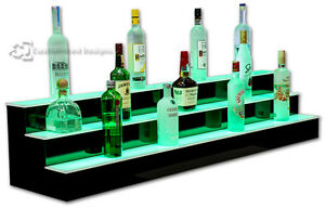 60 3 Step Tier Led Lighted Shelves Illuminated Liquor Bottle Bar Display Stand