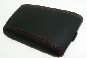 Center Console Armrest Real Leather Cover For Pontiac Gto 04 06 Red Stitch
