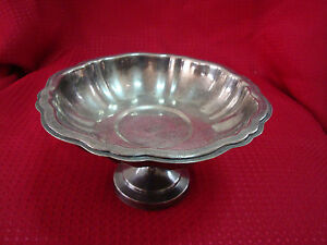 Oneida Silver Plate Pedal Stool Bowl Or Stand