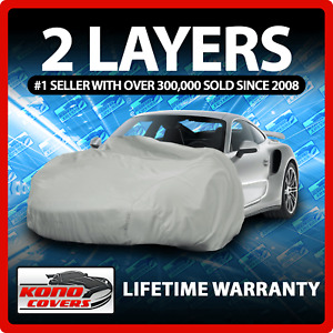 2 Layer Car Cover Soft Breathable Dust Proof Sun Uv Water Indoor Outdoor 2201 Fits 1968 Mustang