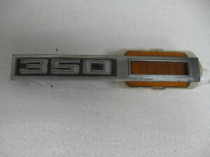 Chevrolet Side Marker 3945294 350 Emblem Badge Script Trim Metal Gm