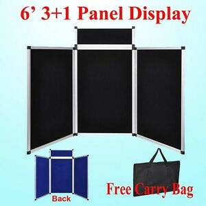 6 3 1 Black Panel Header Trade Show Display Presentation Tabletop 6ft Loop
