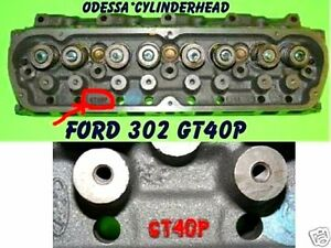 Ford Explorer Mountaineer 5 0 Ohv Iron 302 Sbf Gt40p V8 Cylinder Head Rebuilt