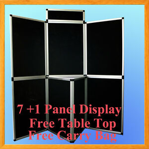 6 7 1 Black Panel Header Trade Show Display Presentation Tabletop 6ft