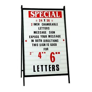New A Frame 2 Sided Sidewalk Sign Sandwich Board 2 Lters W 2 Protective Cover