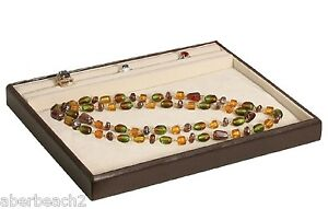 Jewelry Display Showcase Ring Necklace Presentation Tray 1 Leatherette