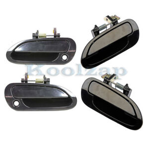 Set 4 Piece For 98 02 Accord Sedan Outside Outer Exterior Door Handle Front Rear