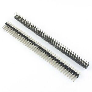 1000pcs 2 54mm Pitch 2x40 Pin Male Double Row Pin Header Strip