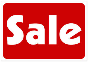 Sale Retail Business Shopping Message Sign Durable Waterproof Plastic 11 x 7