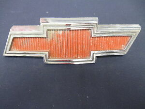 Chevrolet Gmc Bowtie Red Emblem Badge Script Trim Metal Gm