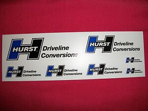 Hurst Driveline Conversions Sticker Decal Hot Rods Classic Cars