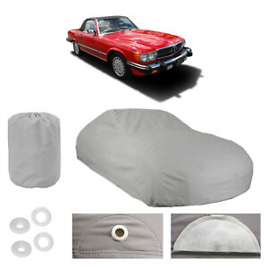 Mercedes benz 560 Sl 4 Layer Car Cover Fit Outdoor Water Proof Rain Uv Sun Dust