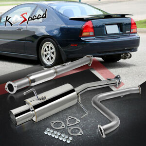 Stainless Steel Ss Cat Back Exhaust System For 92 96 Honda Prelude Bb2 Bb1 Ba8