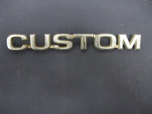 Ford custom Fomoco Emblem Badge Script Trim Metal