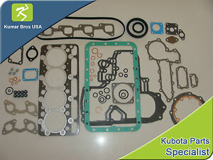 New Kubota V1903 Full Gasket Set