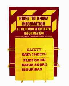 Osha Rtk Center W 1 5 Bilingual Binder Wire Rack Sign formally Msds