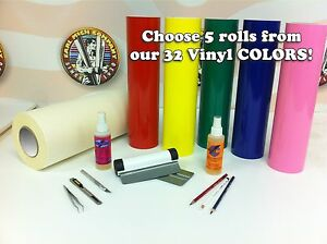 Vinyl Sign Craft Starter Kit 12 Roll Size Hobby Decals Graphics