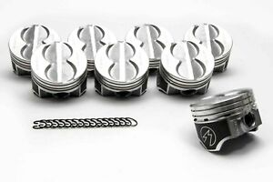 Speed Pro Ford 289 302 Flat Top 4vr Hypereutectic Coated Pistons Set 9 0 1 20