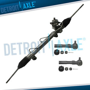 Complete Rack And Pinion 2 New Outer Tie Rod For 1995 2005 Cavalier Sunfire