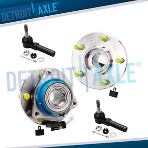 Set Of 2 New Front Wheel Hub And Bearing Assembly W Abs 2 Outer Rod Ends