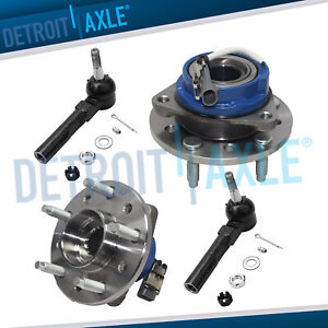 4pc Front Wheel Bearing Hub Outer Tie Rod Kit For Pontiac Grand Am