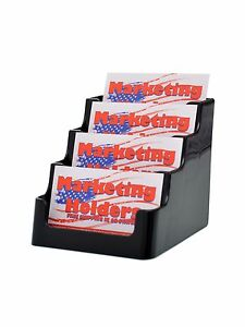 Lot Of 48 Black 4 Tier Gift Card Business Card Holder Counter Top 4 Pocket
