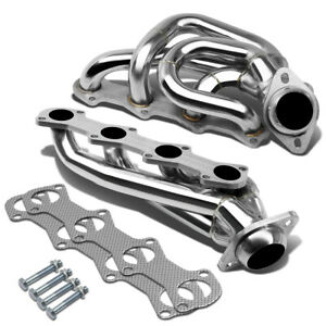 Fit 97 03 F150 F250 Expedition V8 5 4 Stainless Steel Header exhaust Manifold