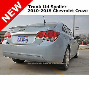Chevrolet Cruze 11 Abs Trunk Flush Mount Rear Lip Spoiler Unpainted Primer