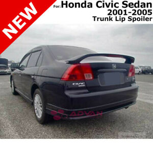 For Honda Civic 4d 4d 01 05 Abs Trunk Rear Wing Aero Spoiler Unpainted Primer