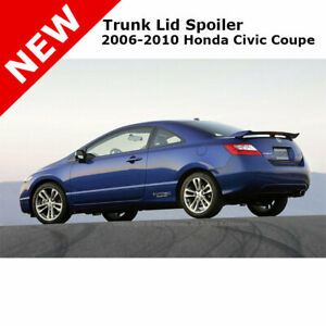 For Honda Civic 2d Coupe 06 11 Si Abs Trunk Rear Wing Spoiler Unpainted Primer