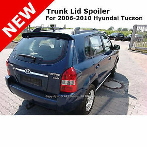 For Hyundai Tucson 06 10 Abs Trunk Rear Wing Spoiler Unpainted Smooth Primer