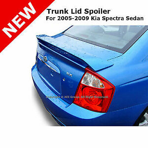 For Kia Spectra Sedan 05 09 Rear Trunk 2 Post Wing Spoiler Unpainted Primer