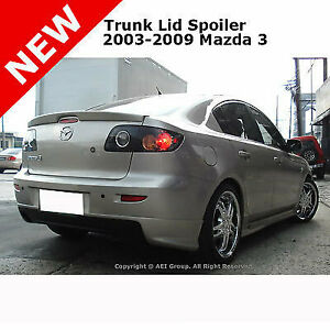 Mazda 3 03 09 Abs Trunk Rear Flush Deck Mount Lip Spoiler Unpainted Primer