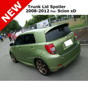 Scion Xd 08 Abs Trunk Top Roof Rear Wing Spoiler Unpainted Smooth Primer