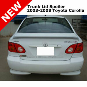 Toyota Corolla 03 08 Trunk Rear Spoiler Color Matched Painted Super White
