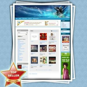 Music Store Complete Work at home Affiliate Website Amazon Google Adsense
