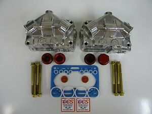 Holley Qft Aed Ccs 4150 4500 Double Pumper Aluminum Float Bowl Kit Red Fittings