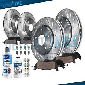 Front Rear Brake Rotors brakes Pads Ford F150 4wd 5 lug Slotted Pad Rotor Kit