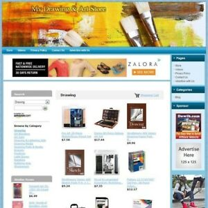Drawing Art Tools Store Highly Profitable Home based Online Business Website