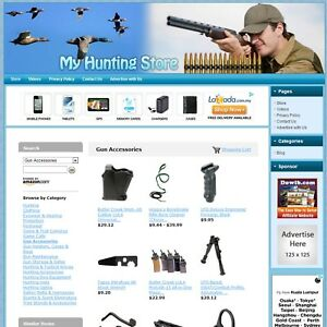 Hunting Store Professionally Designed Fully Automated Affiliate Website Sale