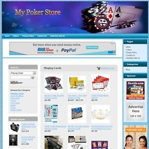 Poker Store professionally Designed Fully Functional Turnkey Business Website