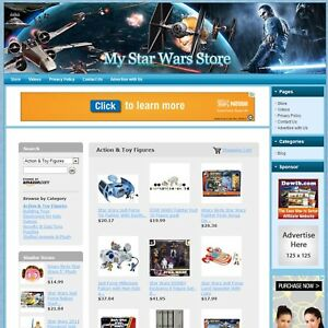 Star Wars Toys Games Store Make Money With E commerce Dropship Website Hot