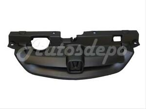 For 2001 2003 Honda Civic Coupe Grille Primed Black W Grille Support Panel