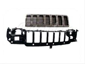 For 96 98 Jeep Grand Cherokee Grille Chr Argent Header Mounting Panel 2pcs