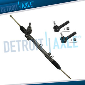 Complete Power Steering Rack Pinion 2 New Outer Tie Rods For Dodge Caravan