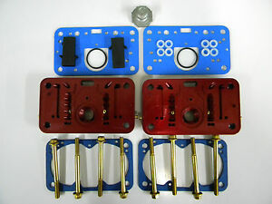 Holley Qft Aed Billet Metering Block Kit 950 Cfm Calibrated 4 Hole Emulsion Red