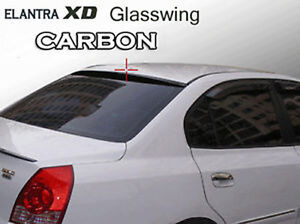 Rear Roof Glass Wing Spoiler Carbon For 01 02 03 04 05 06 Hyundai Elantra Xd