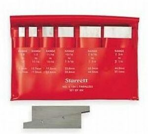 Starrett Adjustable Parallels Set Of 6 In Case New