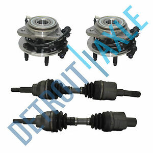Front Left And Right Cv Axle Shaft 2 New Wheel Bearing And Hub Ford Explorer
