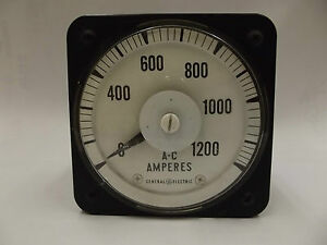 2335rp Ab 18 General Electric A c Ammeter 0 1200a Panel Board Meter